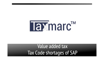 Taxmarc Tax Code Shortage front