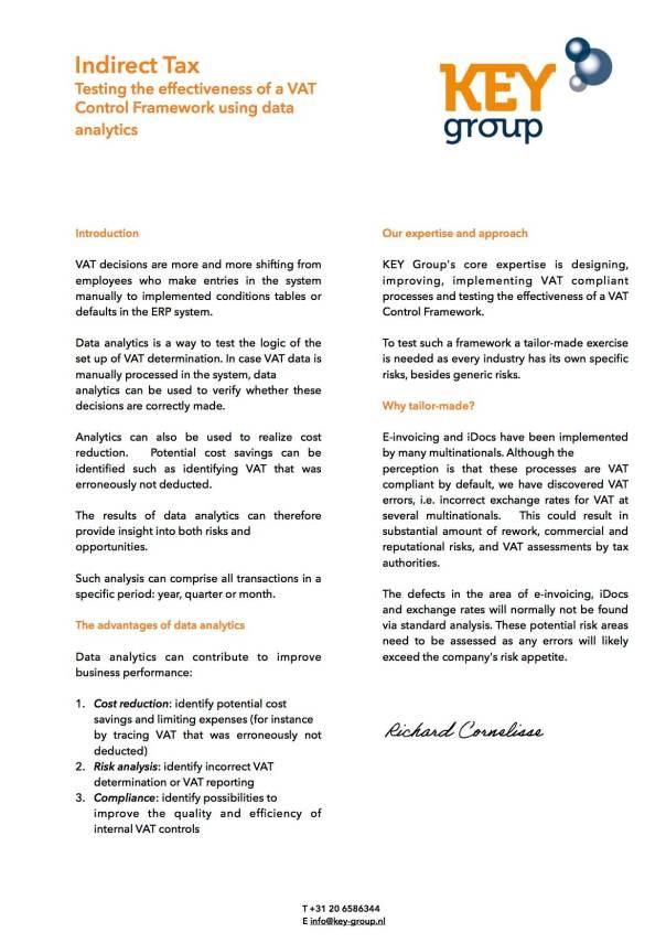 Flyer KEY Group data analytics-signed