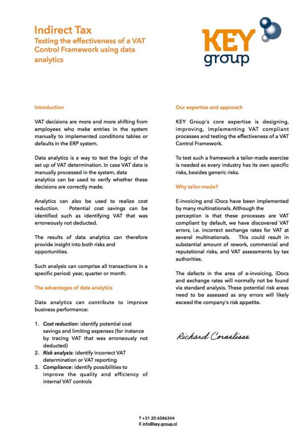 Flyer KEY Group data analytics-signed