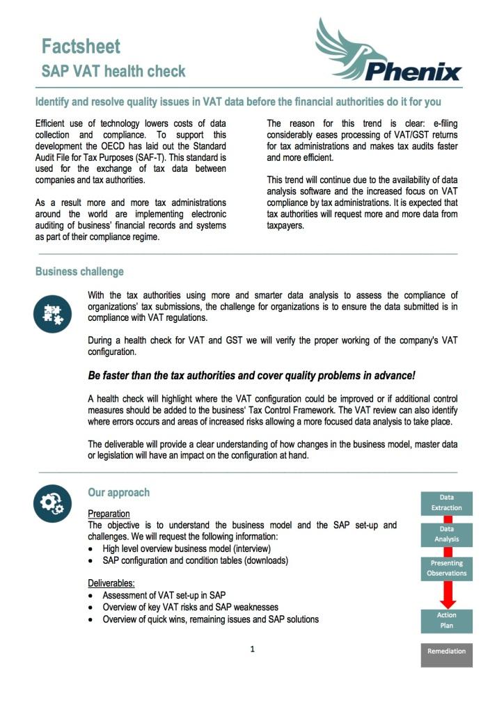 SAP VAT Health Check - 1