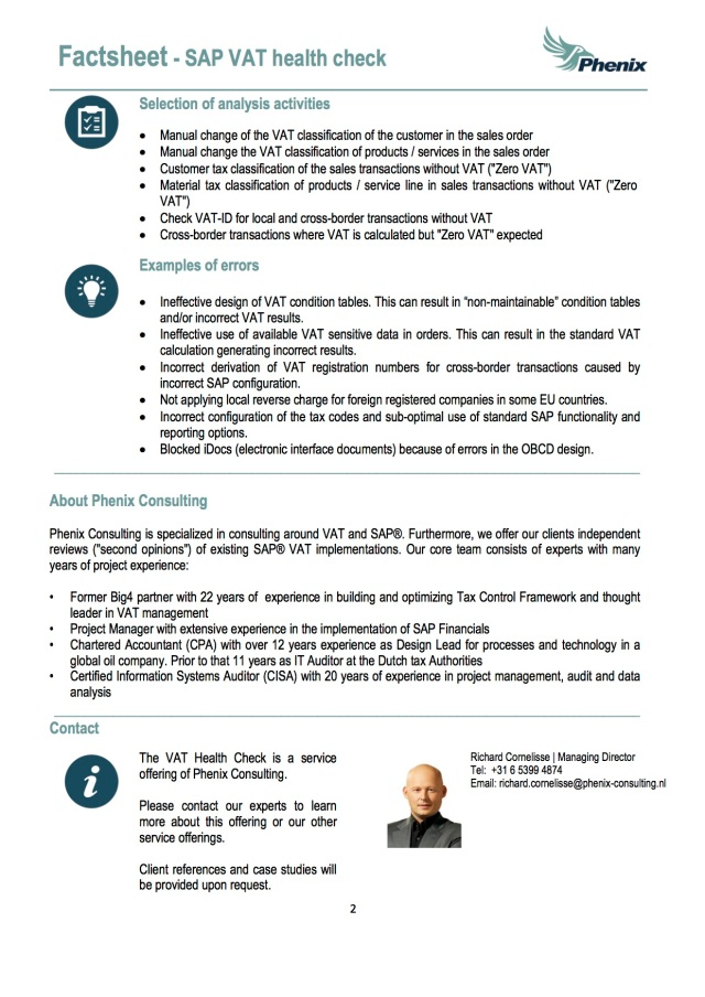 SAP VAT Health Check - 2