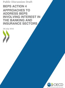 OECD's - BEPS involving interest in the banking and insurance sectors